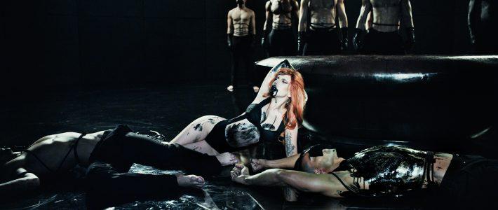 Lady Gaga vista en un estudio en Los Angeles